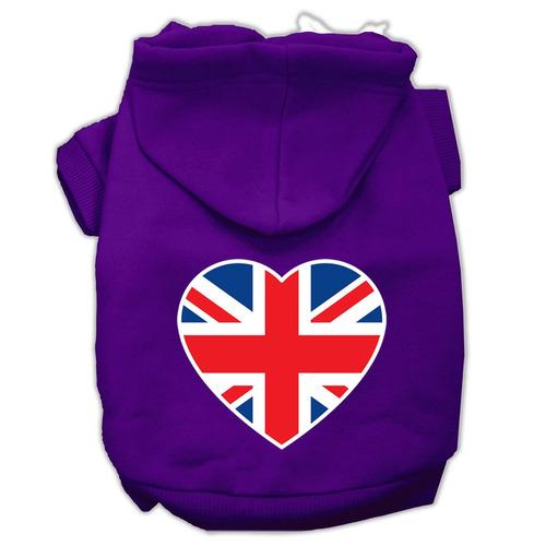 británico bandera corazón pantalla impresión para mascota