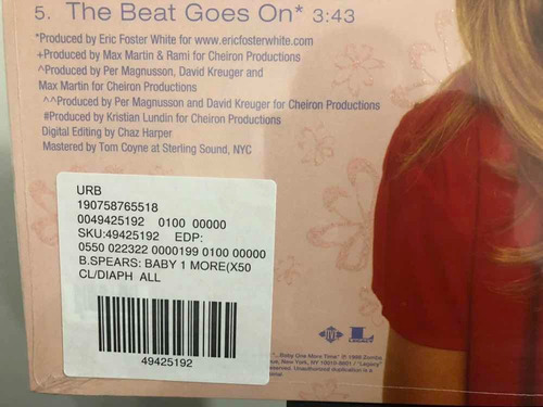 britney spears - baby one more time (vinilo) uo edition