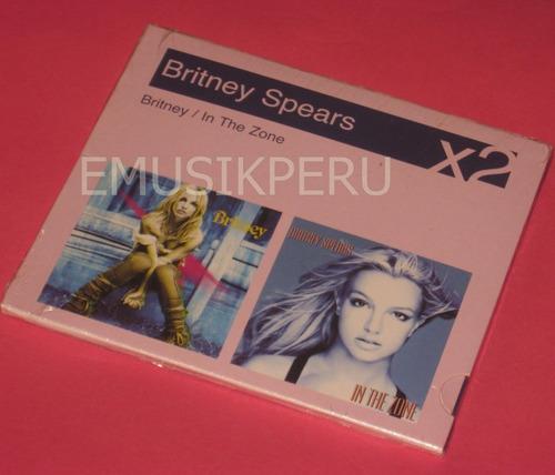 britney spears box in the zone/britney - nuevo sellado - emk