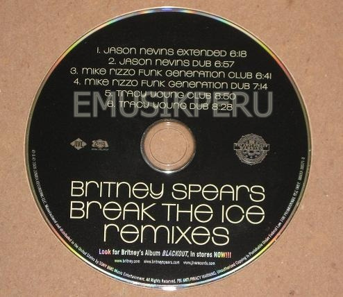 britney spears  break the ice the remixes djs (usa)   -  emk