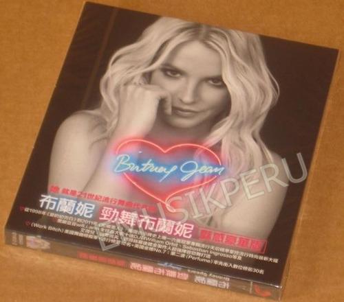 britney spears britney jean taiwan cd+folder+poster  -   emk