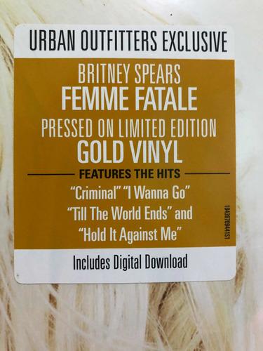 britney spears - femme fatale vinil lp gold limited