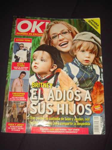 britney spears revista ok enero 2008