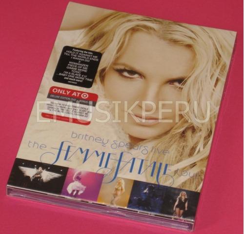 britney spears target dvd+cd femme fatale tour  -  emk