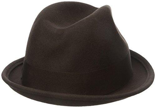 brixton hombre sombrero fedora gain, marrón oscuro, x-large