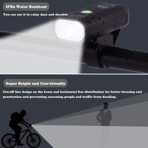 LED FRONT AND REAR BICYCLE LIGHTS SET