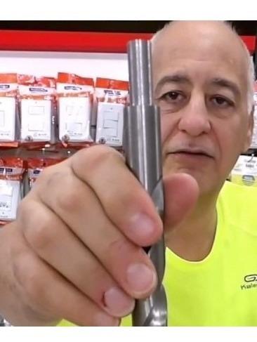 broca aço ferro aluminio 18,0mm (01peças) - com rebaixo