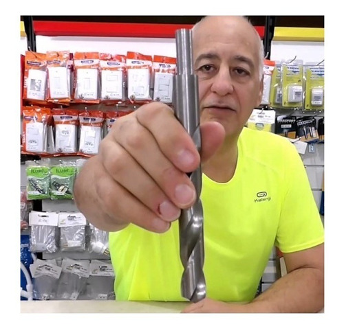 broca aço ferro aluminio 18,5mm (01peças) - com rebaixo