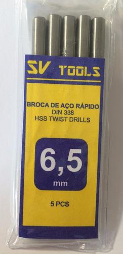 broca aço rápido 6,5mm - (50peças)