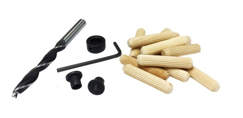 broca centrador y tope para uniones con tarugos de 10 mm
