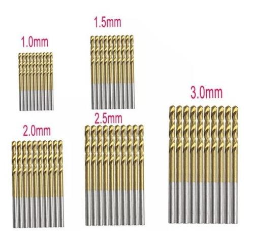 broca de titanium 1.5mm para madera, plastico y aluminio