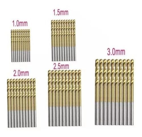 broca de titanium 2.5mm para madera, plastico y aluminio