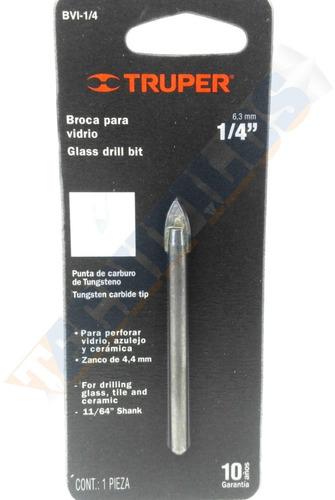 broca para vidrio 1/4  pulg. (t11702)