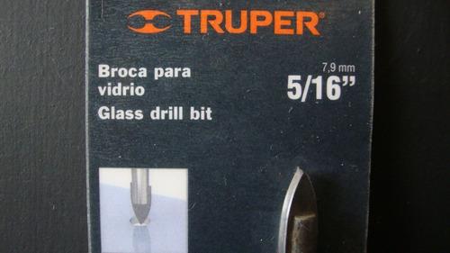 broca para vidrio ceramica azulejo 5/16 truper 11703