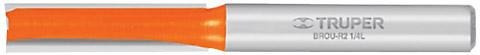 broca router recta 2 filos 1/4' x 1' truper 11453