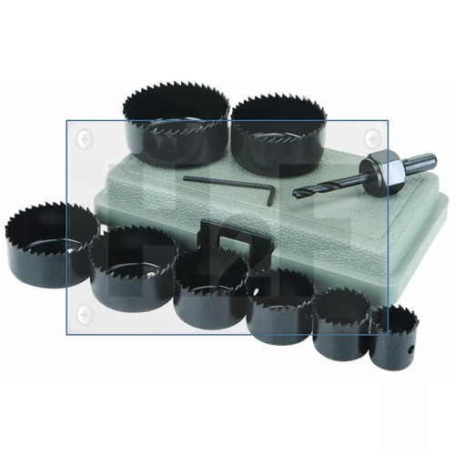 broca sacabocados de acero-carbono set de 11 piezas msi