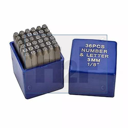 broca set de numeros y letras para estampado 3mm msi