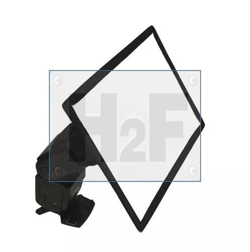 broca softbox para flash de camara 30 x 20 cms msi