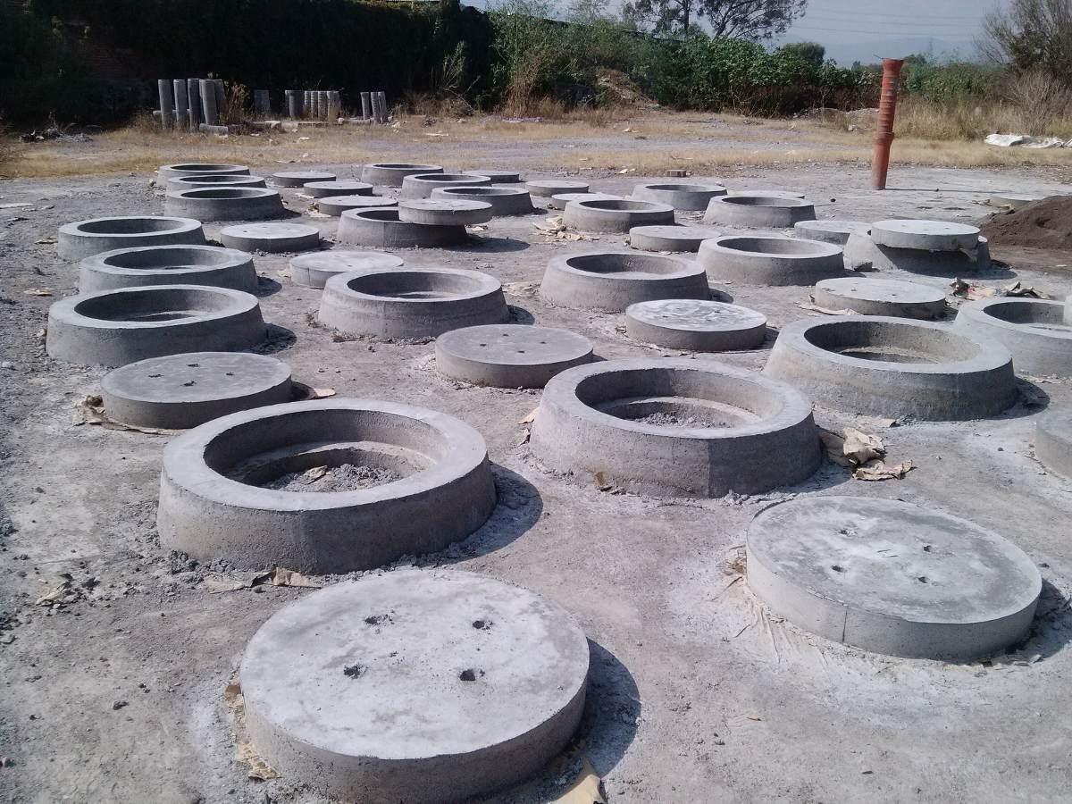 Brocales con tapa de concreto en mercado libre Cemento estampado precio