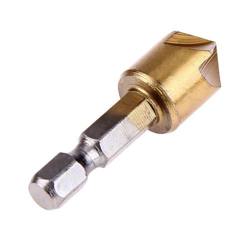 brocas avellanadoras de 6 a 19mm titanium, juego 6 unidades