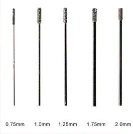 brocas de diamante para perforar vidrio (0.75mm.)