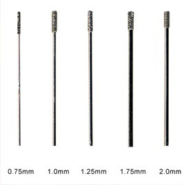 brocas de diamante para perforar vidrio (1.75mm.)