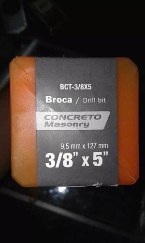 brocas para concreto 3/8 x 5 marca truper.