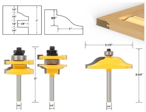 brocas para puertas 1/4 router madera yonico,bosch,