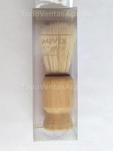 brocha afeitar barba barbero mango de madera nuevas-