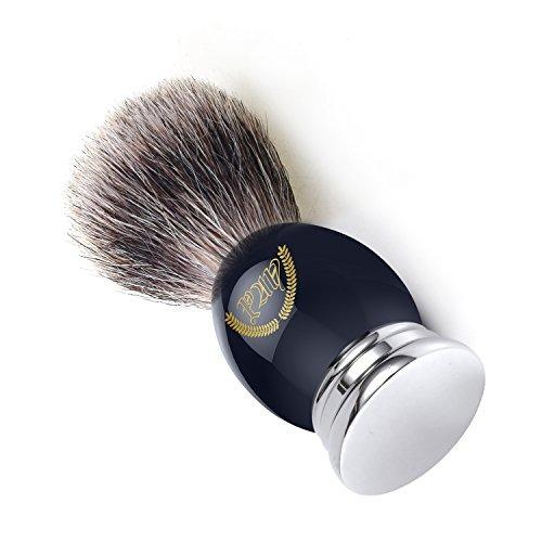brocha afeitar pan mango de cromo pelo de tejón.