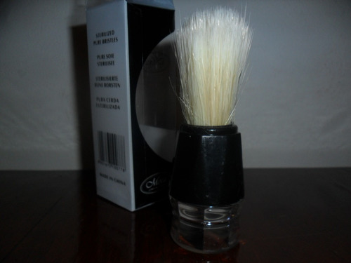 brocha para afeitar articulo nuevo en caja color negro