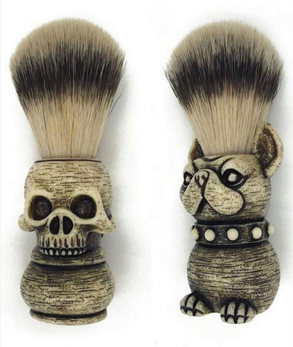 brocha para afeitar calavera
