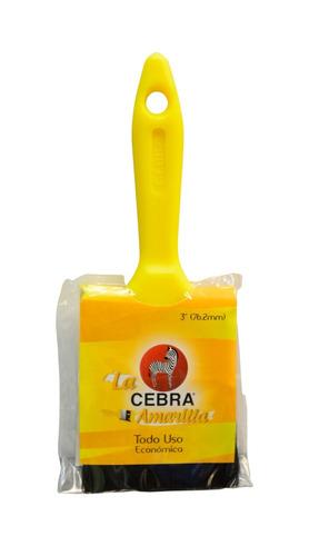 brochas amarilla 4  la cebra