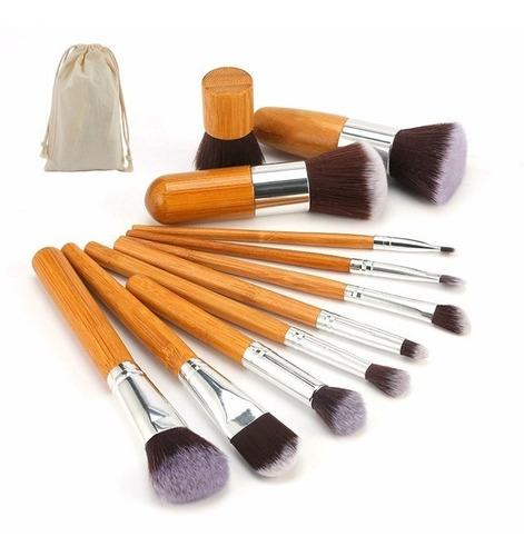 brochas de maquillaje profesionales para ojos set 11 piezas