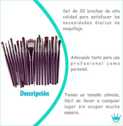 brochas de maquillaje set 20 unidades, envío gratis