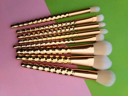 brochas maquillaje 8 piezas