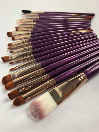 brochas maquillaje profesional set de 20  envio gratis