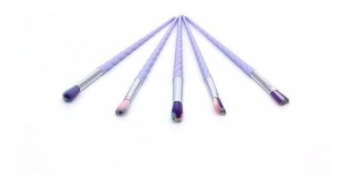 brochas maquillaje set 10 unicornio pelo arcoiris ojos profe