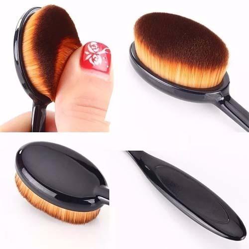 d2b9c40325a3a set 10 cepillos brochas ovalada para maquillaje contour · brochas para  maquillaje