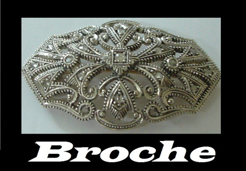 broche antigo lindissimo com diamantes