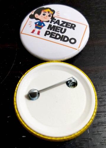 broche boton botton button - com a sua arte 3,5 - 10 peças