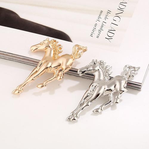 broche caballo dorado diseño exclusivo b-008