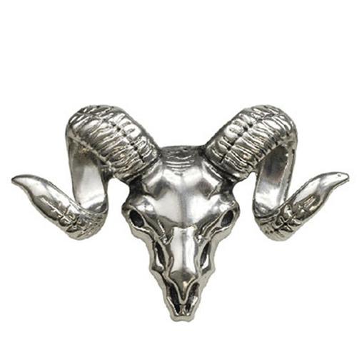 broche cabeza bufalo, color plata, regalo b-075