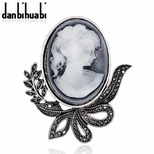 broche camafeu vintage retrô importado top estilo italiano