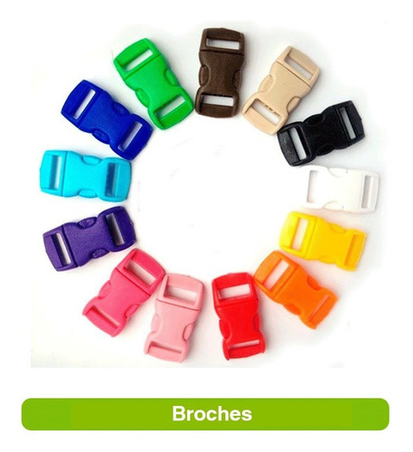 broche clic clac 5cm x 10 unidades hebilla paracord  cartera