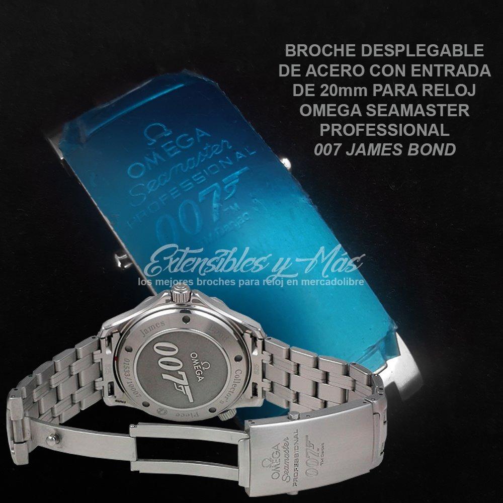 f1df13470eb Broche De Acero Para Reloj Omega Seamaster 007 James Bond -   659.00 ...