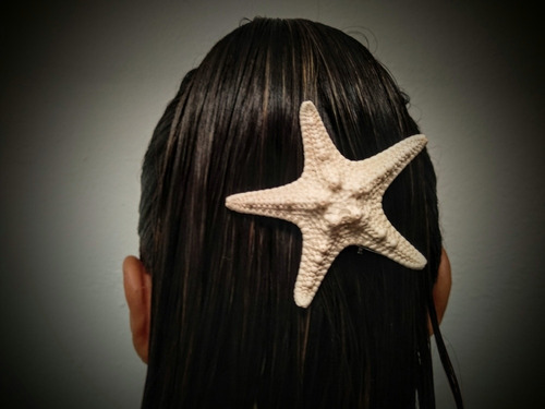 broche de estrella de mar artificial 6 centimetros
