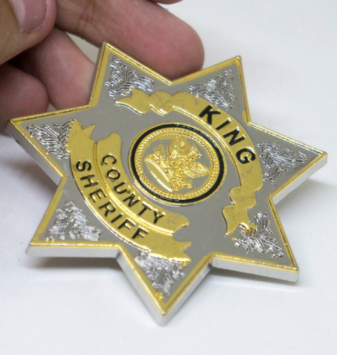 broche estrela distintivo sheriff rick grimes walking dead