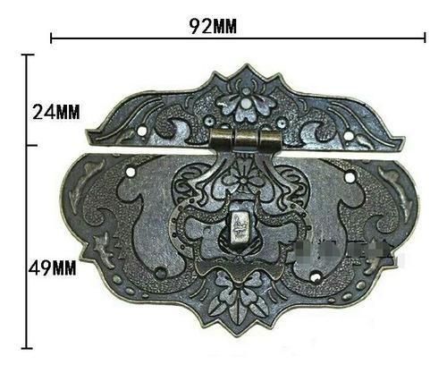 broche extra grande grabado para baules, cofres. cod-lck-019