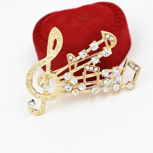 broche notas musicales cristales zirconia swarovski b-125 f
